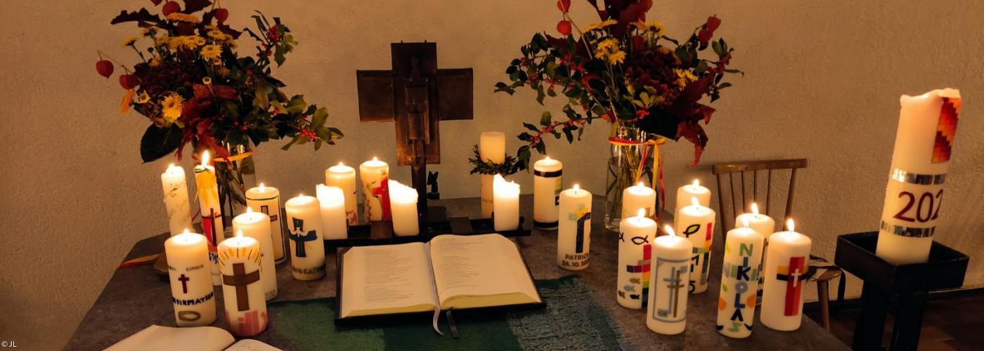 Altar bei den Konfirmationen